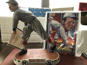 Sports Impressions RARE! Babe Ruth Pitcher Red Sox Figurine w/COA & Box - New