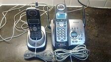 Panasonic cordless phone answering base KX-TG5632 w/ add phone PQLV30042ZAM USED