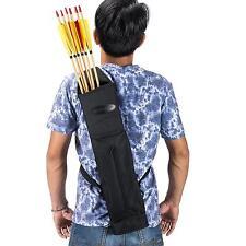 Canvas Back Arrow Quiver Hunting Shoulder Bag Pocket Holder Adjusted Strap Belt