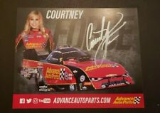 Signed Courtney Force Hero Card NHRA