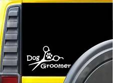 Dog Groomer Scissors L125 8 Inch paw heartbeat dog decal