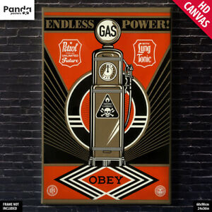 Shepard Fairey Endless Power Poster Canvas Obey Wall Art Print (60×90cm/24×36in)