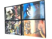 Lot of 4 PS 2 Japan games Naruto/Gran Turismo /Kusen Combat Flight Simulation
