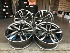 "4 x 18"" alloy wheels RS6C style Gunmetal polished face fits audi a3 a4 vw golf"