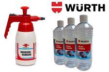 Wurth Botella Dispensadora + 3 x 1 Litro Botes de Limpiador Frenos Paquete