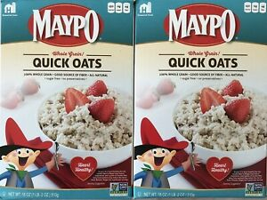 **36 oz**Lot 2x18 oz MAYPO Instant Whole Grain QUICK OATS Oatmeal Cereal NON GMO
