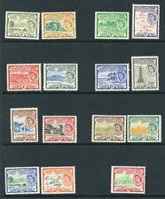 St Kitts 1954 definitives complete SG 106a - 118 LMM