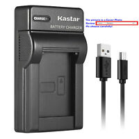 Kastar Battery Slim USB Charger for Olympus BLS-5 BLS5 PS-BLS5 BLS-50 Battery
