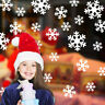 Christmas Wall Sticker Decoration Window Glass Stickers Snowflake Wall Decals