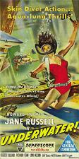 Howard Hughes Underwater! Jane Russell movie poster print 2