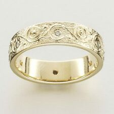 Scottish Ola Gorie 9ct Yellow Gold Rysa Diamond Eternity Ring