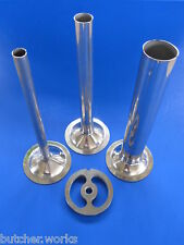 #22 Meat Grinder Plate and Sausage Stuffing Tubes 4 pc