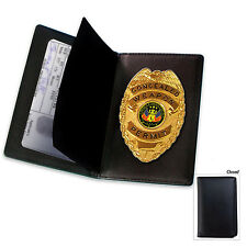 Badge Concealed Carry Weapon Permit CCW Gold Badge With Leather Wallet NEW!!