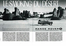 PUBLICITE ADVERTISING 1985 LAND ROVER  RANGE ROVER   (2 pages)