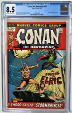CONAN The Barbarian #14 Graded CGC 8.5 1972 Elric App OW/WH Pgs MARVEL FREE SHIP