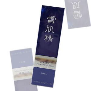 NEW US FREE TRACK Kose Sekkisei White Washing Foam,face cleanser,130g, Japan