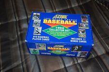 SCORE 1992 Major League Baseball MLB Collector Set 910 Cards and 17 Bonus Cards