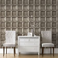 Superfresco Easy Paste the wall Heavy Wood Panel Brown Wallpaper