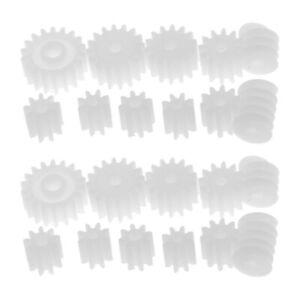 22pcs Assorted Plastic Gears Worm Toys Motor Set for DIY RC Car Robot Parts