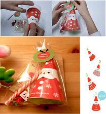 Conjunto de 4 3D tarjeta de corte Navidad Santa Felicitación De Pie Mensaje Tarjeta Idea de Regalo 1pc