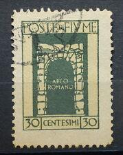 1923   Regno D' Italia 30 Centesimi  Posta di Fiume