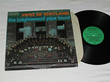 THE KNIGHTSWOOD PIPE BAND Pipes of Scotland LP 1973 Request Record Vinyl USA VG+