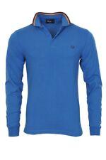 Fred Perry Polo Poloshirt hombre S azul Algodón Piqué