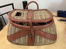 Vintage Wicker & Leather Fishing Creel
