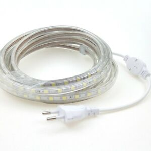 LED Bande Strip Ruban Guirlande 220V AC IP68 blanc chaud (1-100m)