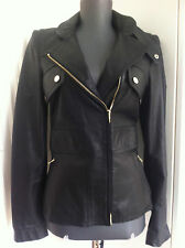 GUCCI BIKER JACKE LEDERJACKE 36 S IT.40 34 SCHWARZ PERFECTO GG LEATHER JACKET