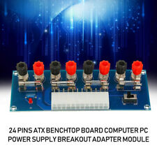 1PC 24 Pins ATX Benchtop Board Computer PC Power Supply Breakout Adapter Module