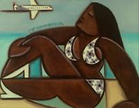 Waikiki Art Original Hawaiian Painting Hawaiian Subathing Beach Art Aloha Island