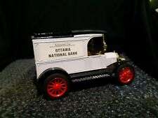 "ERTL Replica Ford 1913 Model T Van Die Cast Coin Bank ""Ottawa National Bank"""