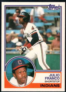 1983 Topps Traded #34T Julio Franco NM-MT RC Rookie Indians