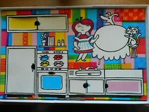 Vintage 1957 / 1962 Colorforms  Come into Miss Cookie's Kitchen