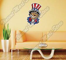 "Smiling Uncle Sam USA United States Wall Sticker Room Interior Decor 17""X25"""