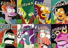 FUTURAMA serie completa stagione 1+2+3+4+5+6+7+8 23 DVD Matt Groening