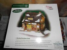 DEPT 56 DICKENS' Village J. HORSLEY CHRISTMAS CARDS NIB *Still Sealed*
