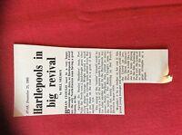 m2M ephemera 1966 football article hartlepools united brian clough