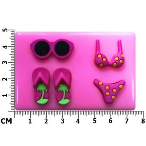 Bikini Flip Flops Sunglasses Beach Holiday Silicone Mould by Fairie Blessings