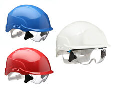 Centurion Spectrum Safety Helmet Blue with Integrated Eye Protection ABS