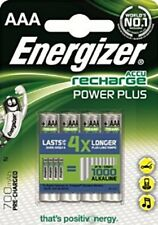 4 x ENERGIZER POWER PLUS AAA 700 mAh Rechargeable Batteries NiMH PRE-CHARGED NEW