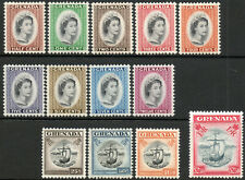 Grenada 1953 QEII complete set of 13 to $2.50 LMM