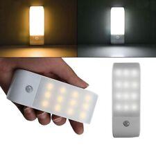 12 LED USB Wiederaufladbare Bewegung Induktion Sensor Schrank Nachtlicht Lamp OE
