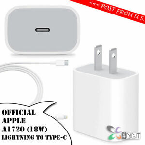 Original Genuine Apple A1720 18W iPhone XS Max XR X 8+ Plus WALL CHARGER Cable
