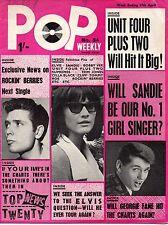 Pop Weekly Magazine 17 April 1965   Sandie Shaw  Cilla Black  Unit Four Plus Two