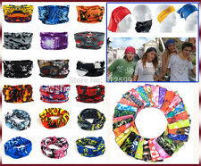 4 pc Bandana Bikers Motorcycle Riding Neck Face Mask Protection Tube Head Bands