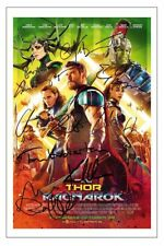 THOR RAGNAROK CAST SIGNED 6 x4 PHOTO PRINT AUTOGRAPH POSTER CHRIS HEMSWORTH