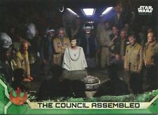Star Wars Rogue One Series 2 Green Base Card #41 The Council Assembled