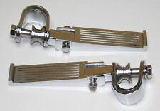 Custom Ribbed Chrome Crash Bar Highway Footpeg Set - Foot Peg Set NEW